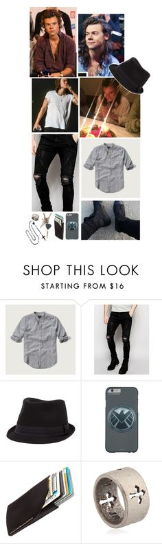"""Ootd [ Harry ]"" by believe-in-you-always ❤ liked on Polyvore featuring Abercrombie & Fitch, Sik Silk, BKE, Bison, John Richmond, men's fashion and menswear"