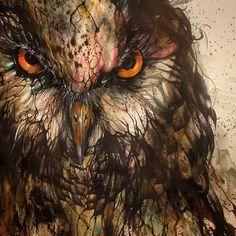"New Work ""Night Owl"" -60cm*110cm"