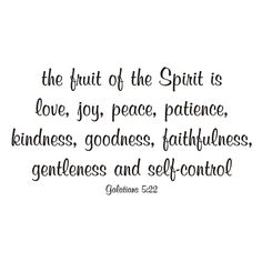 Fruit of the Spirit Vinyl Wall Decal by back40life on Etsy, $20.00