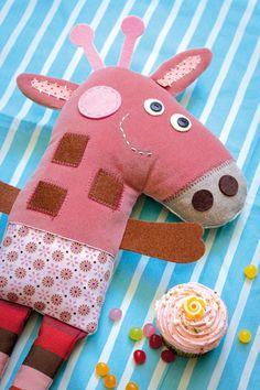 Pink giraf plush toy