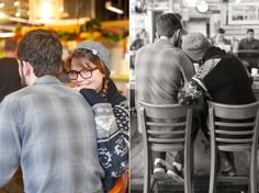 Coffee shop session, couple portraits | John and Bethany | A Coffee Anniversary Session | Charlotte Photographer
