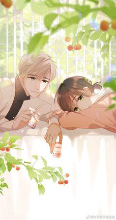 Chibi Couple, Manga Couple, Anime Love Couple, I Love Anime, Cute Cartoon Drawings, Anime Couples Drawings, Anime Couples Manga, Manga Anime, Romantic Anime Couples