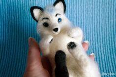 Needle felting - (part XVIII -Fantasy Fox- custom made)