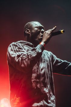 Stormzy performing on stage. UK Rap & Grime Music