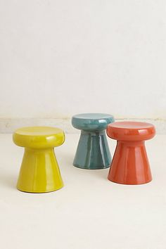 #Anthropologie #PinToWin These stools would be great sitting next to a bed used as a bedside table. @Anthropologie