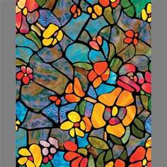Stained glass - what a burst of color.  I remember my girl friends house that had stained glass in their foyer. I loved sitting on the staircase and watching the colors move across the floor at sunset.