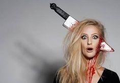 Friday the Jason Voorhees girlfriend halloween makeup tutorial - Ellimacs SFX Zombie Make Up, Diy Zombie Kostüm, Zombie Eyes, Fete Halloween, Halloween Horror, Halloween Cosplay, Halloween Makeup, Halloween Ideas, Happy Halloween