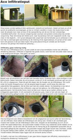 Plaats een Aco infiltratieput voor de afvoer van regenwater bij uw tuinhuisje, blokhut, prieeltje of overkapping ! #tuinhuisje #blokhut #prieeltje #prieel #overkapping #terras #afdak #regenwater