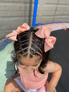 Baby Hair Dos, Toddler Hair Dos, Girl Hair Dos, Toddler Hairstyles, Cute Girls Hairstyles, Braided Hairstyles, Little Girl Hairdos, Hair Ideas, Braids