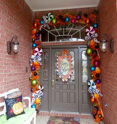 Halloween door decor by Lisa Frost