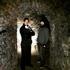 "Ghost Adventures: ""Tunnels... I love tunnels"" - Zak Bagans.  With Aaron Goodwin."