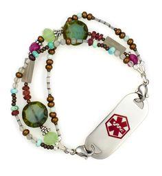 Lil' Miss Medical ID Bracelet again Lauren's Hope - the best I tell you!!