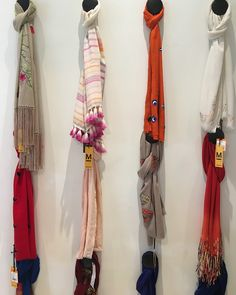 Selection of scarves @ Le Mill, a high fashion concept store in Bombay, India