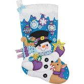 Found it at Wayfair - Frosty's Ornament Collection Stocking Christmas Cross Stitch
