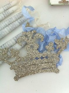 Glass Glitter metal crown