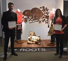 Roots by Matt and Laura 3rd Place Winners. 'Art of Display' Visual Merchandising Exhibition at Redefining Design 2014. The School of Fashion at Seneca College. #RedefiningDesign