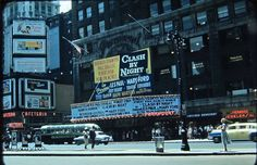 Manhattan: 7th Avenue toward 43rd Street (1952