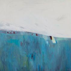 large Gicléé PRINT of painting blue white abstract print Funky Art, Blue Painting, Encaustic Art, Canvas Prints, Art Prints, Minimalist Art, Art Google, Fine Art Paper, Giclee Print