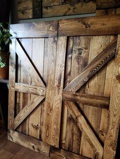 Barn Style Shutters - Window Barn Doors - Sliding Shutters - Lilly is Love Interior Window Shutters, Interior Windows, Interior Barn Doors, Wood Shutters, The Doors, Wood Doors, Entry Doors, Front Entry, Patio Doors
