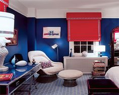 red and royal blue. Emily Henderson — Stylist - BLOG