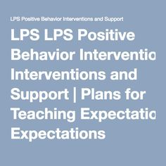 positive expectations in teaching