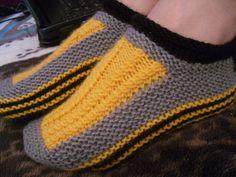 МК по вязанию спицами.Тапочки-носочки.