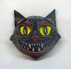 Handmade OOAK Halloween Black Cat Vintage Styled by cre8orstouch, $95.00