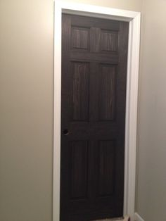 Black Stained Doors