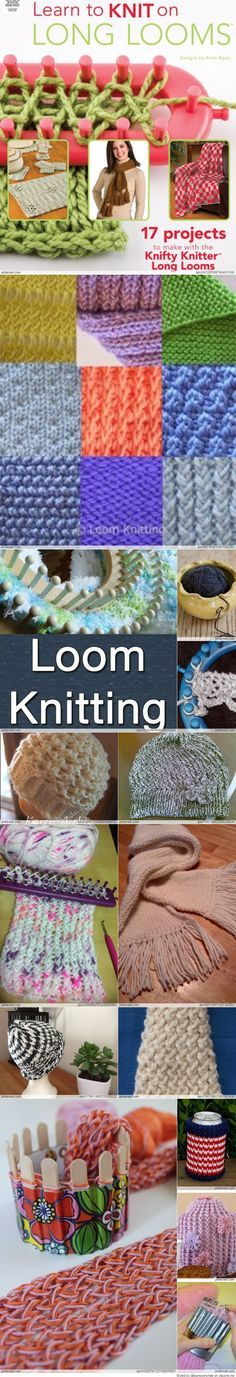Ideas For Knitting Projects Loom Loom Knitting Stitches, Knifty Knitter, Loom Knitting Projects, Arm Knitting, Yarn Projects, Round Loom Knitting, Loom Crochet, Knit Or Crochet, Crochet Crafts