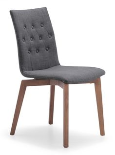 Marty Button Chair, Graphite (Set of Two)
