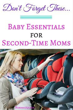 Sure, you have a ton of stuff from your first kid, but you need these extra essentials! | Baby Essentials for Second-Time Moms | Momsanity  via @momsanitypins