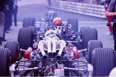 pipe dreams …Chris Amon (Ferrari 312/67), Mike Spence (BRM P83) & John Surtees (Honda RA300) ready to leave the pits at Monza, 1967 Italian Grand Prix2 V12's (Amon & Surtees) & an H16 (Spence) ready to rumble … 40 cylinders of madnessyou can almost hear the exhausts growl just by looking at the picture