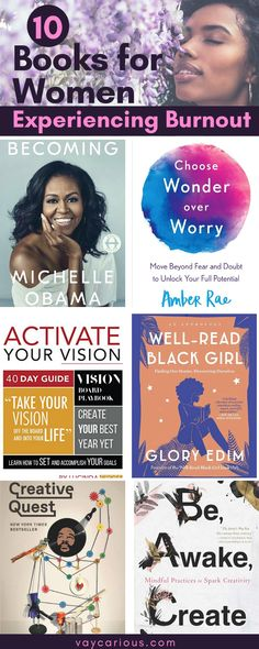 Black burnout is harmful to Black women. These 10 inspirational and motivational books will show you how to take time to pursue your personal creative goals and live life on your own terms in Mi Books To Read In Your 20s, Books To Read For Women, Hobbies For Women, Best Books To Read, Good Books, Books For Black Girls, Black Books, Inspirational Books To Read, Motivational Books