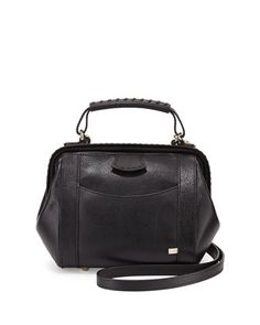 Waverly Hinged Satchel Bag, Black by SJP by Sarah Jessica Parker at Neiman Marcus.
