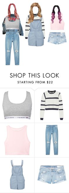 """""""Untitled #3526"""" by aurorazoejadefleurbiancasarah ❤ liked on Polyvore featuring Tommy Hilfiger, TIBI, Victoria's Secret, Monki, Influence and rag & bone/JEAN"""
