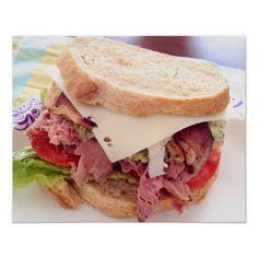 Poster da comida do sanduíche