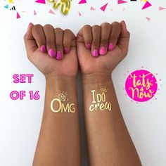 Bachelorette party tattoos - I do crew and OMG