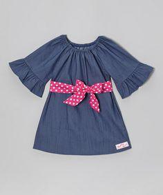 Look what I found on #zulily! Denim Bell-Sleeve Dress - Toddler & Girls #zulilyfinds