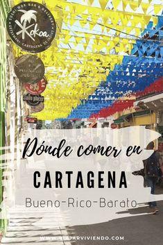 Hay muchos restaurantes en Cartagena de Indias en Colombia, pero no todos son buenos, ricos y baratos. ¡Aunque estos sí! comida deliciosa y a buen precio cerca de los lugares turísticos del centro. #cartagenadeindias #wheretoeat #comidacolombiana #caribe #comerbarato Colombia Travel, Santa Marta, South America, Travel Tips, Projects To Try, Places To Visit, Vacation, Koh Tao, Costa Rica