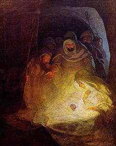 """The Nativity.  It was, then, not a dream.  This is the sign unto them.""  1912 N.C. Wyeth"
