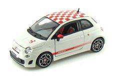 "Fiat 500 Abarth 2008 1:24 Bburago Diecast Car Model by Bburago. $14.99. Detailed design. Opening doors and hoods. Fiat 500 Abarth 2008 1:24 Bburago Diecast Car Model. Comes with labeled plastic stand. Appox. 5.5"" long"
