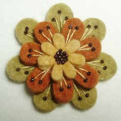 Felt embroidery ~ want to get these lovely colors