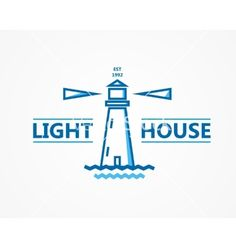 Lighthouse logo or symbol icon vector 4296879 - by lifeking83 on VectorStock®