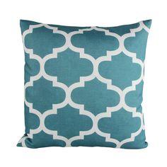 Amazon.com: Puredown Canvas Decorative Cushion Covers Sofa Chair Seat Throw Pillow Case Quatrefoil Print Square 18X18 Inch Teal: Bedding & Bath