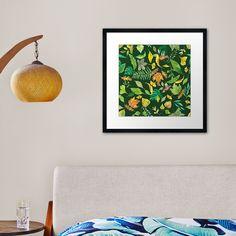 """Autumn Leaves on Dark Green Background"" Framed Art Print by victorsboutique | Redbubble"