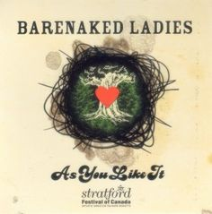 This is the album cover for the music that the Barenaked Ladies did for the 2005 Stratford Festival's production of As You Like It, taken from the site for the Canadian Adaptations of Shakespeare Project, where some samples can be streamed. The lyrics to the songs are original, but the band arranged it to fit '05 production, set during the late 1960s. It's a great example of the interpretation of not only his works but the atmosphere of the play itself, into the modern era.    Gene Hasegawa