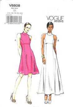 Lined dress (close-fitting through bust) has collar, cut-in armholes, princess seams, back zipper and narrow hem.
