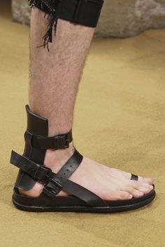 Ann Demeulemeester  -These really look like roman soldiers sandals lol