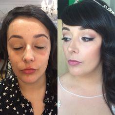 Eye liner bridas Makeup , maquillaje de novia Vanessa Merlo Make up
