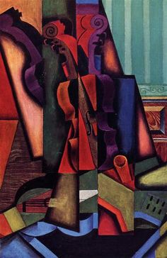 Violin and Guitar : Juan Gris : Synthetic Cubism : still life - Oil Painting Reproductions Georges Braque, Poster Prints, Framed Prints, Canvas Prints, Art Prints, Music Painting, Art Music, Henri Matisse, Synthetic Cubism